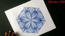 HOW TO DARW SINGLE PATTERN DESIGN DESIGN 6 RAINBOW ART BY RADHAPADA MANNA