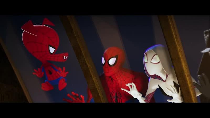[Fun Moment] Человек паук через вселенные. Отрывок из мульта 2018