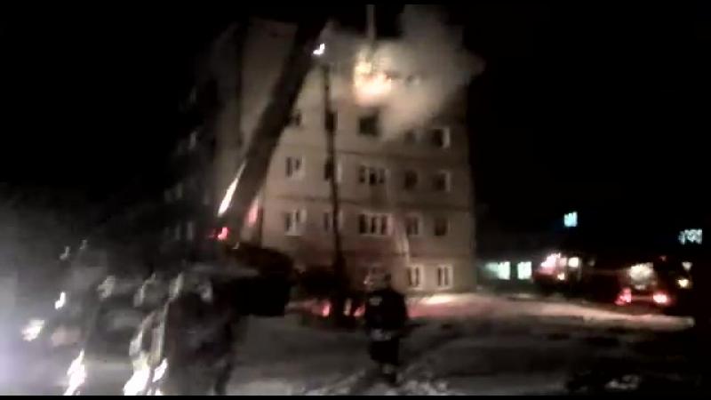 Пожар в Новоомском
