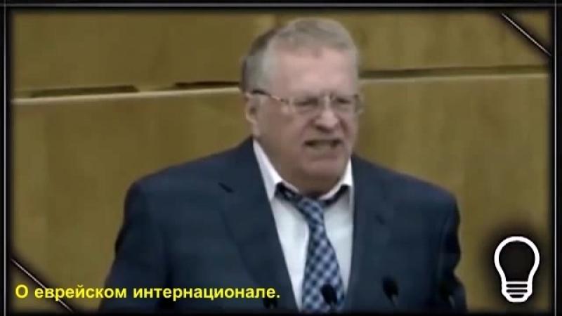 Жириновский о еврейском интернационале.