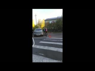 ДТП с участием мотоциклиста в городе Дивногорске.
