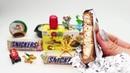 Белый Сникерс Распаковка Киндер Сюрпризов Конфеты Печенье Шоколад Много Сладостей