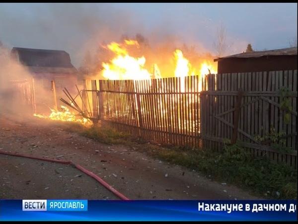 На Резинотехнике в Ярославле сгорела дача