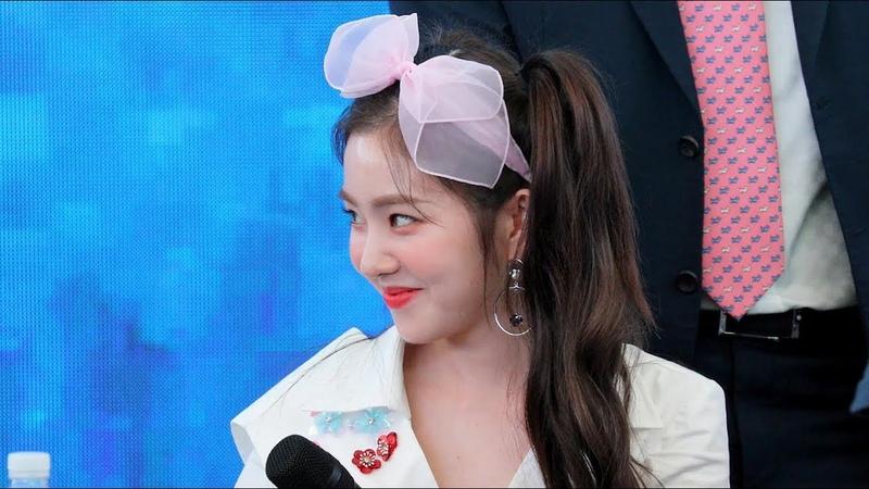 180818 레드벨벳(Red Velvet) 아이린(Irene) 끝인사~퇴장 (Closing Ment) [스타필드고양팬사인회] 4K 직캠 by 비