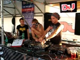 DJ Sergeev (Russia) and DJ Vincent Vega (Germany) playing at DJ Bar @ KaZantip 2009 (part 2)