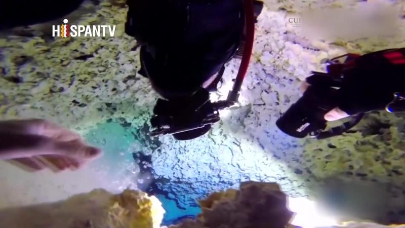 Hallan cueva sumergida en agua más grande del mundo