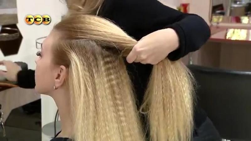 Причёски на основе гофре