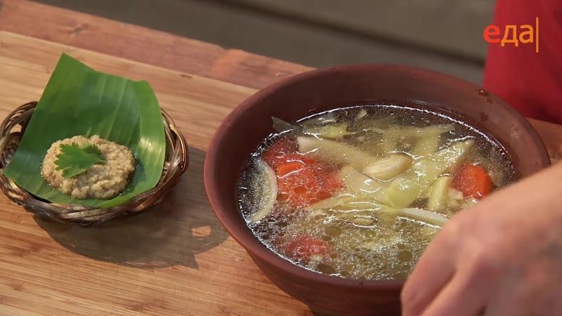 Пряная луна и сладкий ветер - Камбоджийский суп с лапшой и овощами