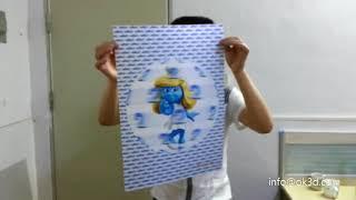 Custom lenticular poster printing-3d lenticular ball effect advertisment poster-3d animation effect
