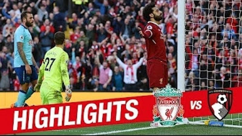 Highlights: Liverpool 3−0 Bournemouth   Mane, Salah Firmino on target again
