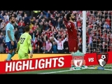 Highlights: Liverpool 3−0 Bournemouth | Mane, Salah & Firmino on target again