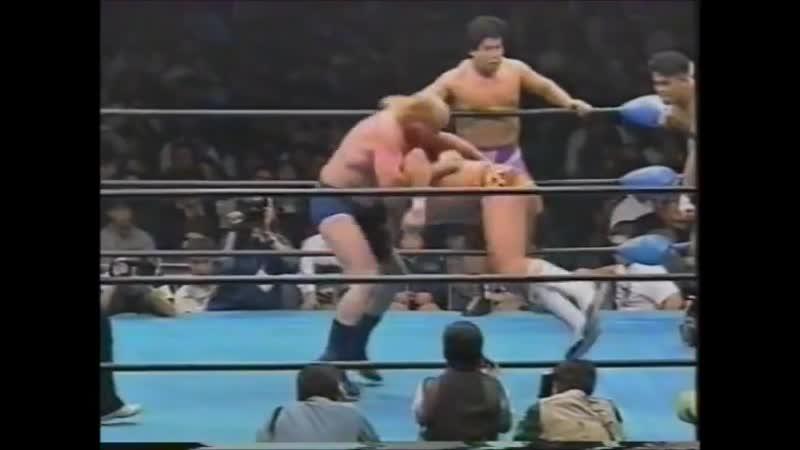 1995.12.09 - Giant Baba/Stan Hansen/Dory Funk Jr. vs. Jun Akiyama/Takao Omori/Jun Izumida [JIP]
