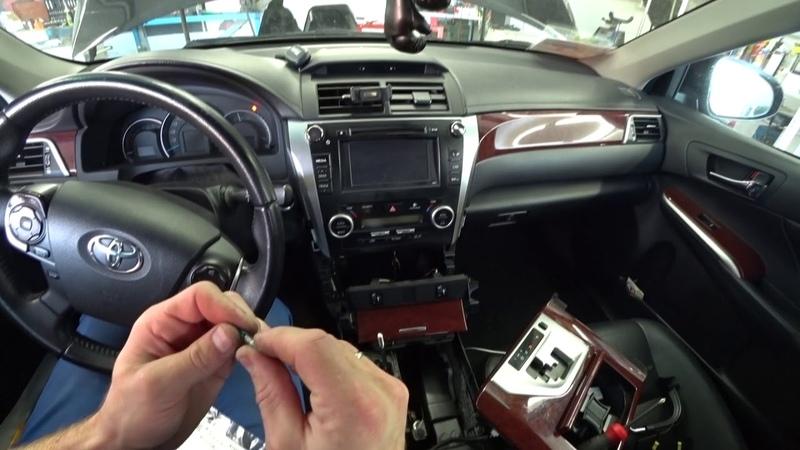 Camry 50 Три Ольги Серия 1. Замена ламп подсветки селектора АКПП и прикуривателя