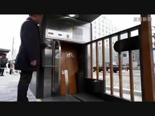 Подземная система парковки велосипедов в Японии