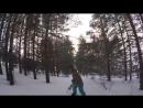 Вчера катались под красивый зимний закат солнца и я все так же продолжаю совершенствовать свои умения в этом виде спорта 🏂