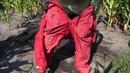 Wetlook lycra zentai showsuit wet spandex swim in clothes downjacket wam mud messy