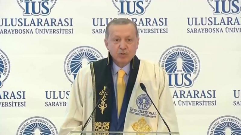 Cumhurbaşkanı Recep Tayyip Erdoğan, Saraybosna Üniversitesi fahri doktora töreni 20 Mayıs 2018