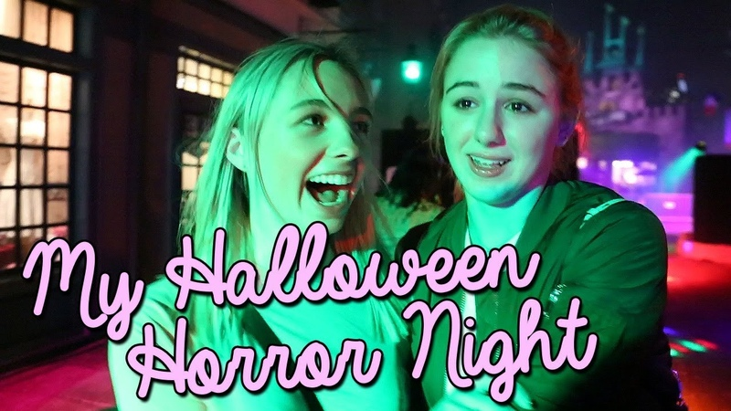 I got attacked by WHAT Halloween Horror Nights | Chloe Lukasiak