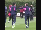 Diving practice for Aubameyang