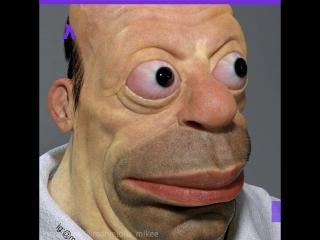Как бы выглядел Гомер Симпсон в реальной жизни | АКУЛА