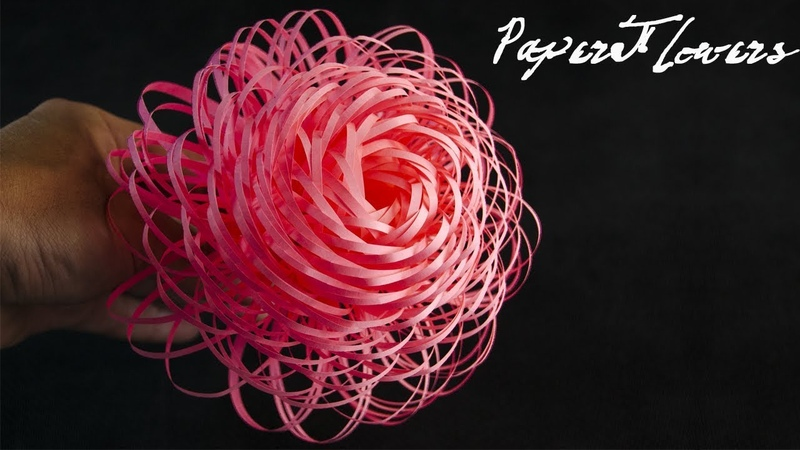 How To Make Fluffy Paper Flowers DIY Paper Craft