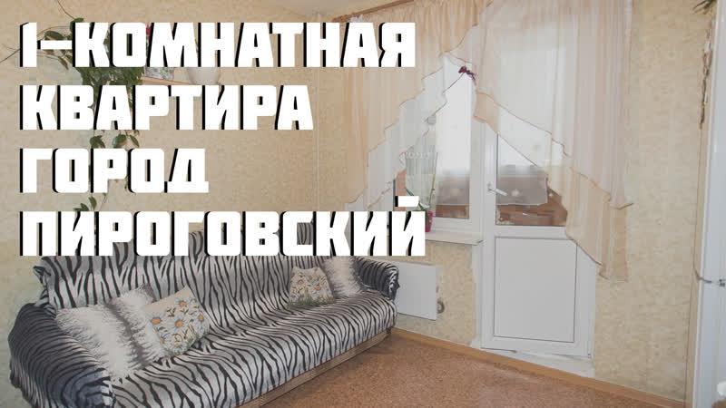 Обзор 1-комнатной квартиры, город Пироговский, улица Фабричная