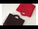 Penye ipten el çantası yapımı -2 spagetti yarn XXLace