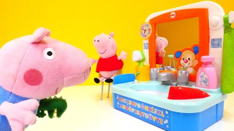 Peppa Pig auf Deutsch. Eine Überraschung von Papa Wutz.