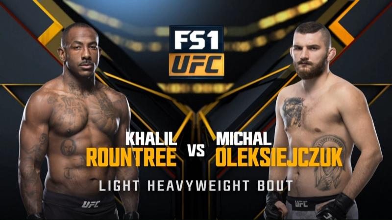 UFC 219 Khalil Rountree Jr vs Michal Oleksiejczuk