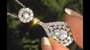 White Diamond Pendant Necklace 14k White Gold Certified Estate GEM 1.16 TCW - C1037