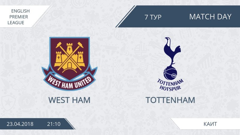 AFL18. England. Premier League. Day 7. West Ham - Tottenham