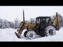 Снег против тракторов МТЗ