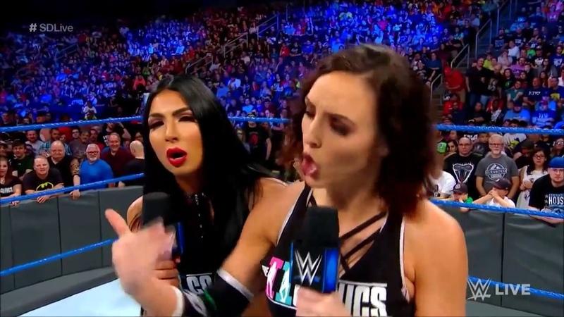 Video@kayroyce | SmackDown Live 19.06.18: Billie Kay (w/Peyton Royce) vs. Becky Lynch