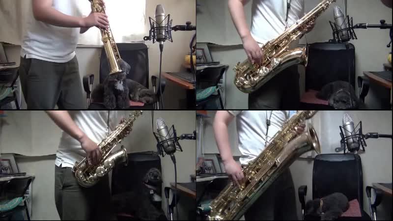 Super Mario Bros. on Sax Quartet by myself