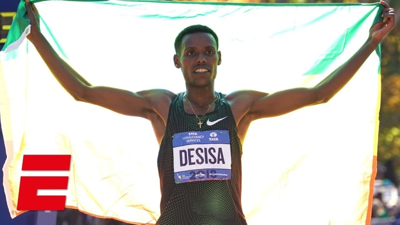 Lelisa Desisa of Ethiopia wins mens title at 2018 NYC Marathon HD