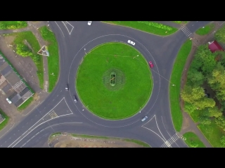 Таймлапс кольцевого перекрестка на ул Архангельская