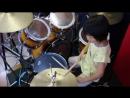 'Immigrant Song' Led Zeppelin _7year old drummer Yoyoka レッド・ツェッペリン『移民の歌』 7歳女子ドラマーが叩いてみた.