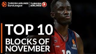 Turkish Airlines EuroLeague, Top 10 Blocks of November