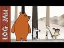 KJFG No.5 - funny cartoons Log Jam series