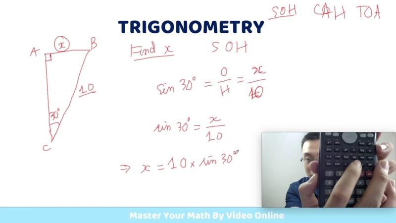 Trigonometry 3 2 Tìm Cạnh Một Tam Giác Ứng Dụng SOH CAH TOA Toán Quốc Tế IGCSE