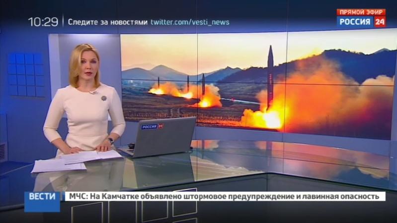 Новости на Россия 24 Токио ожидает что Пхеньян выстрелит зарином