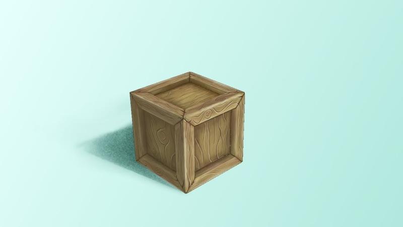 Моделирование и текстурирование простого ящика