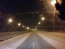 Романтика ночной езды по зимней заснеженной дороге