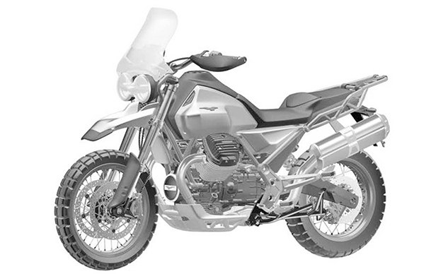 Компания Piaggio патентует дизайн концепта Moto Guzzi V85