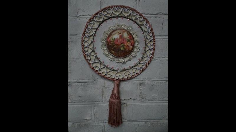 Панно с медальоном в стиле шебби-шик. Мастер-класс.