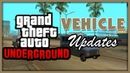 GTA: Underground | Vehicle updates.