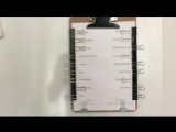 Pen-free reusable checklist made from binder clips.