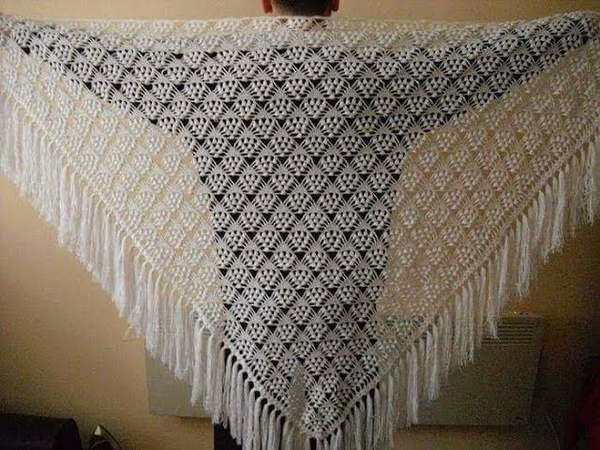 TIĞ İŞİ ŞAL MODELİ YAPIMI /Crochet Shawl Model Construction