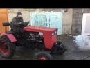 Весенний тест-драйв самодельного трактора Юниор