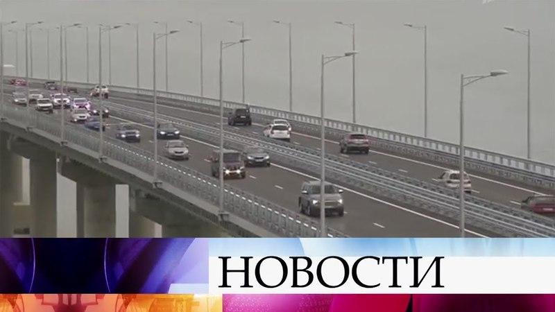 Свыше 40 тысяч машин проехали по Крымскому мосту за три дня после запуска движения.